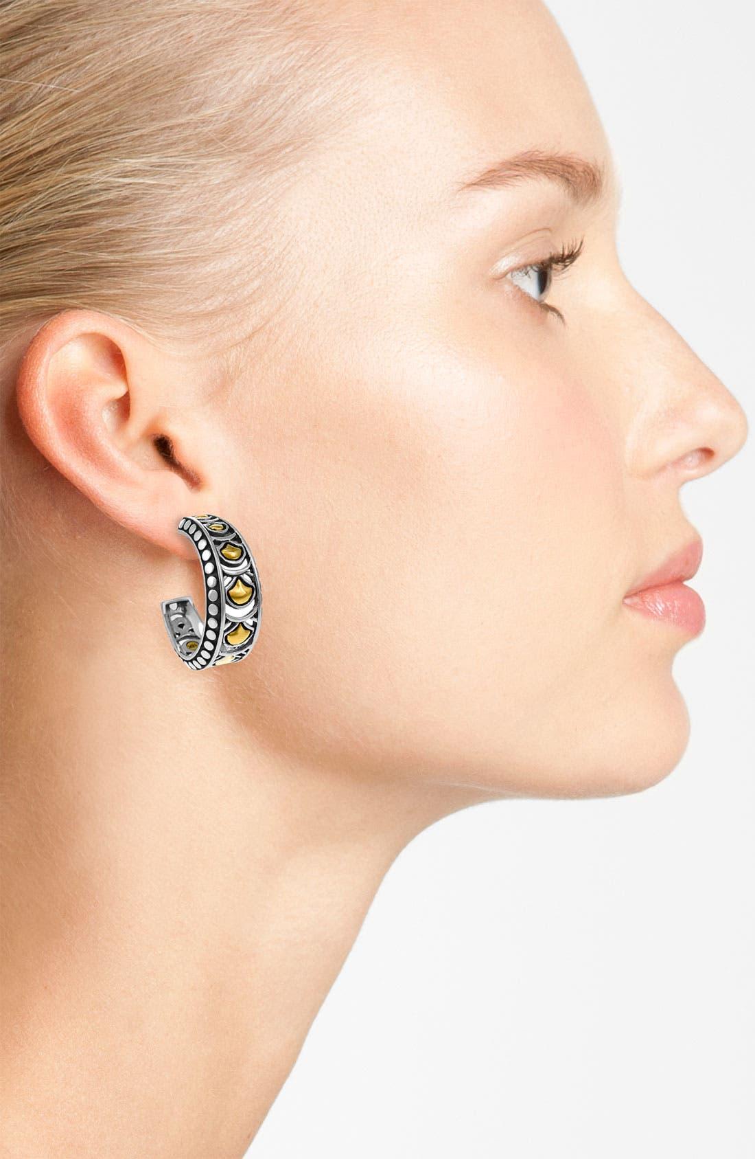 Alternate Image 2  - John Hardy 'Naga Gold & Silver' Hoop Earrings