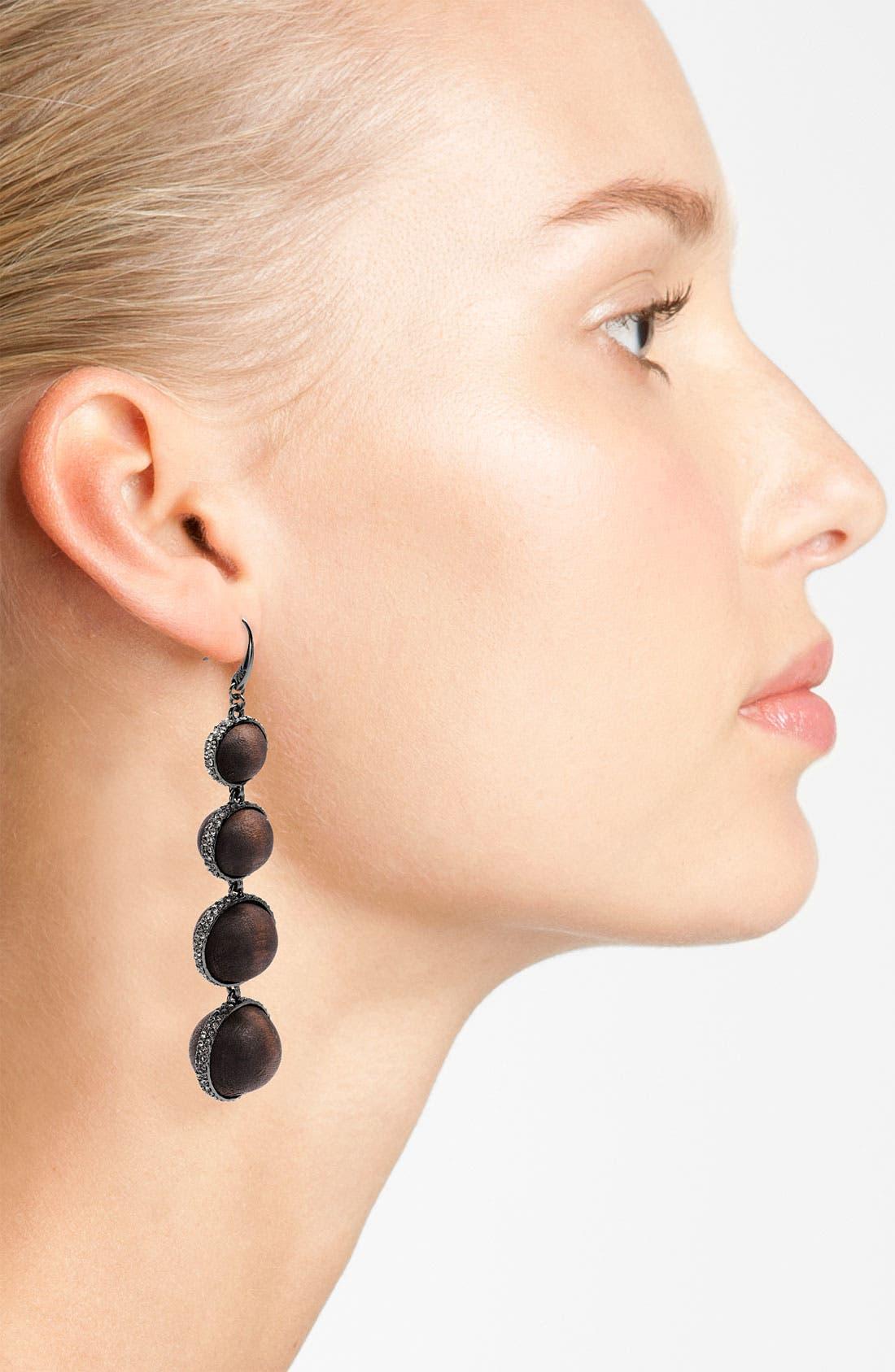 Alternate Image 2  - Michael Kors 'Safari Glam' Pavé Slice Statement Earrings