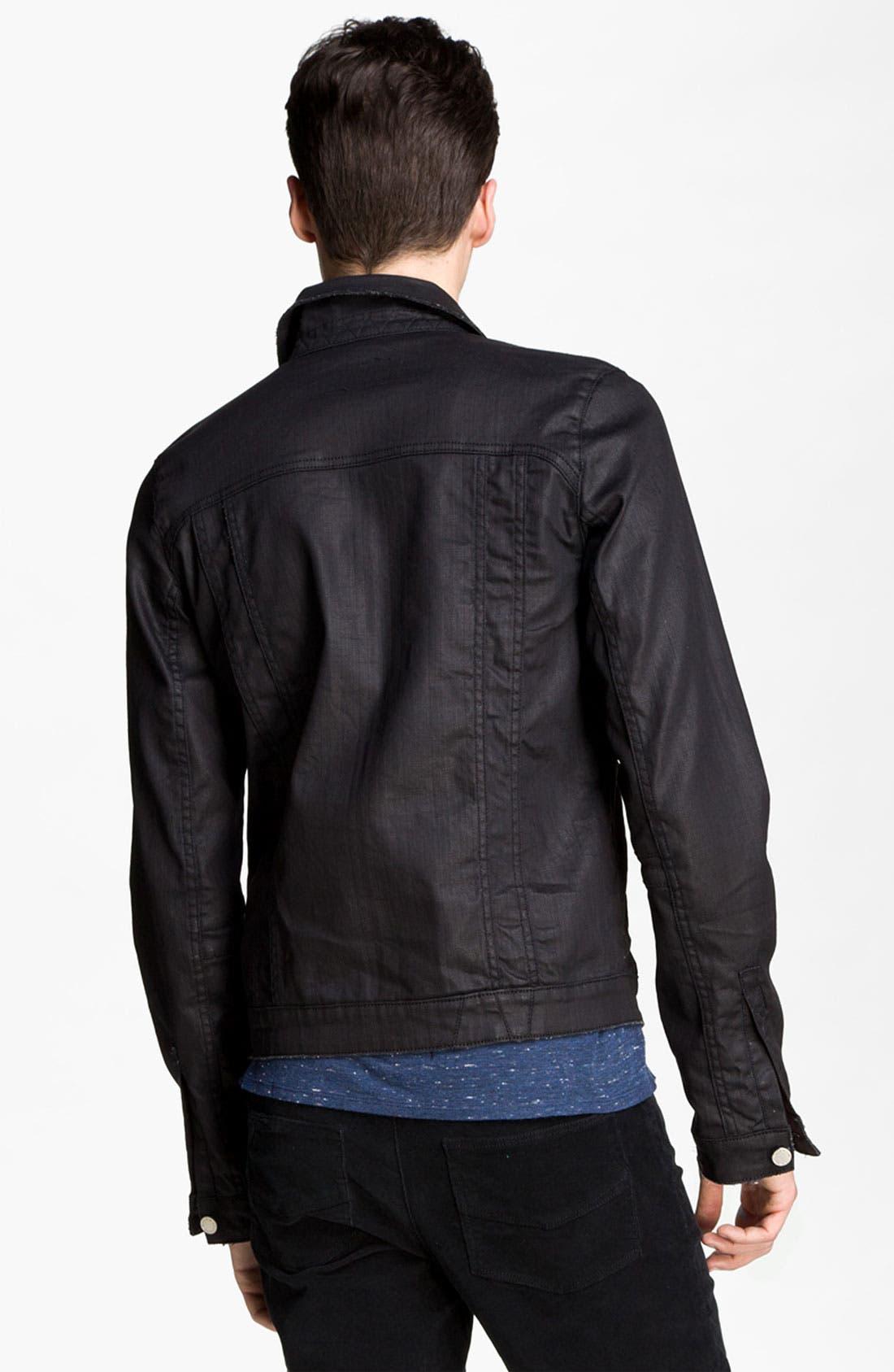 Alternate Image 2  - Zadig & Voltaire Waxed Denim Jacket