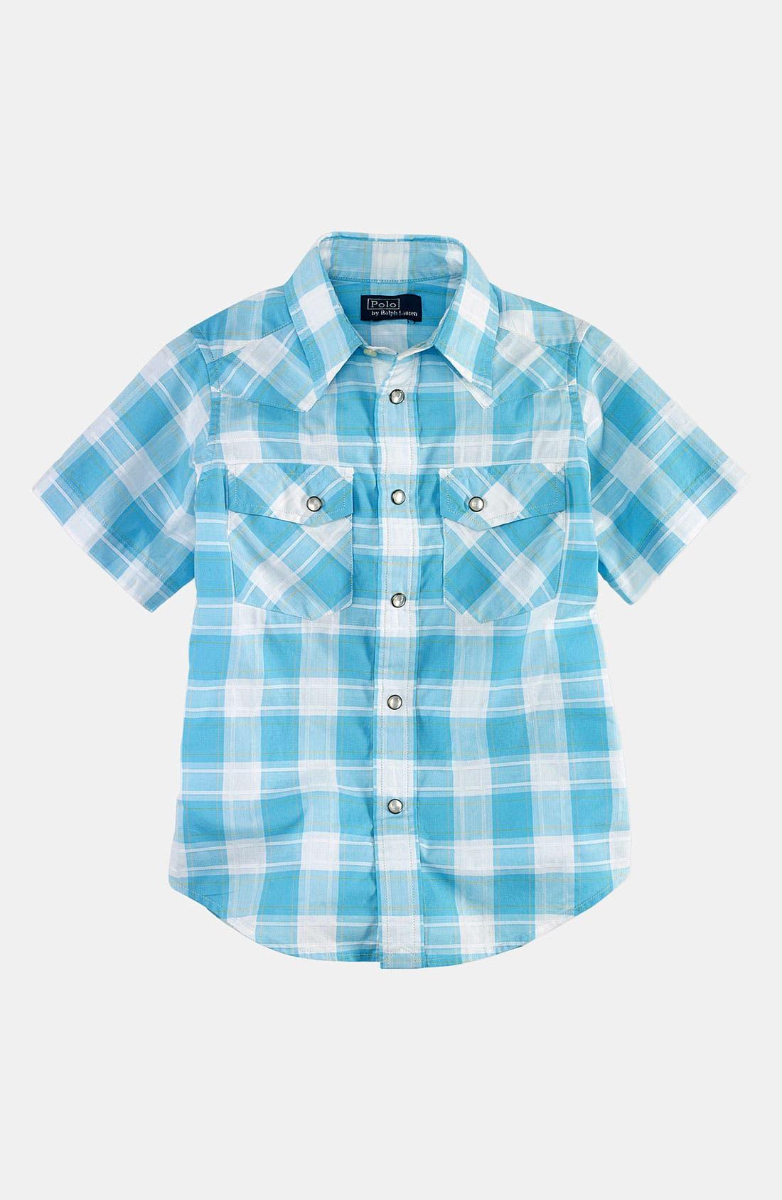 Main Image - Ralph Lauren Short Sleeve Shirt (Toddler)