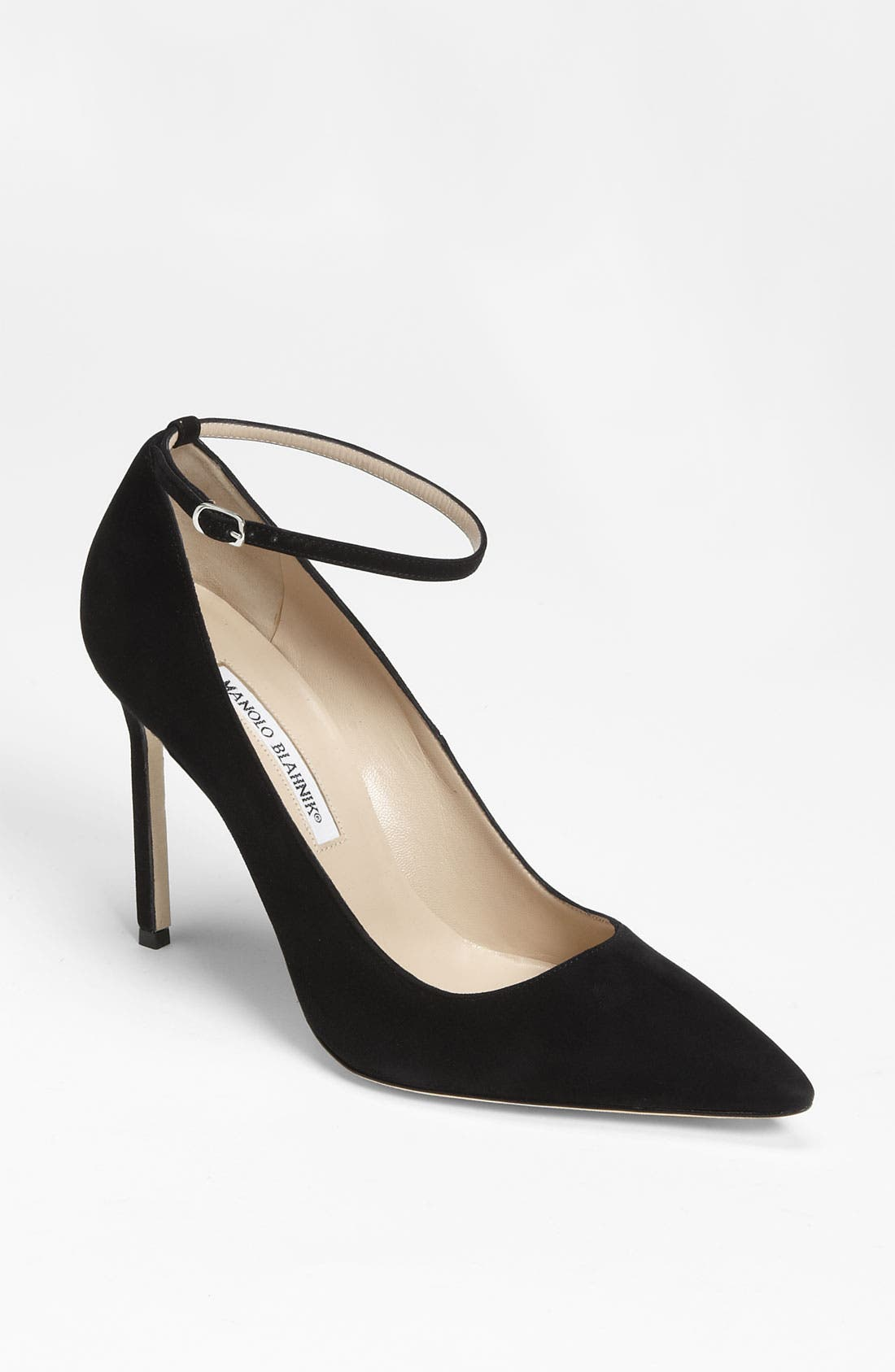 Alternate Image 1 Selected - Manolo Blahnik Ankle Strap Pump