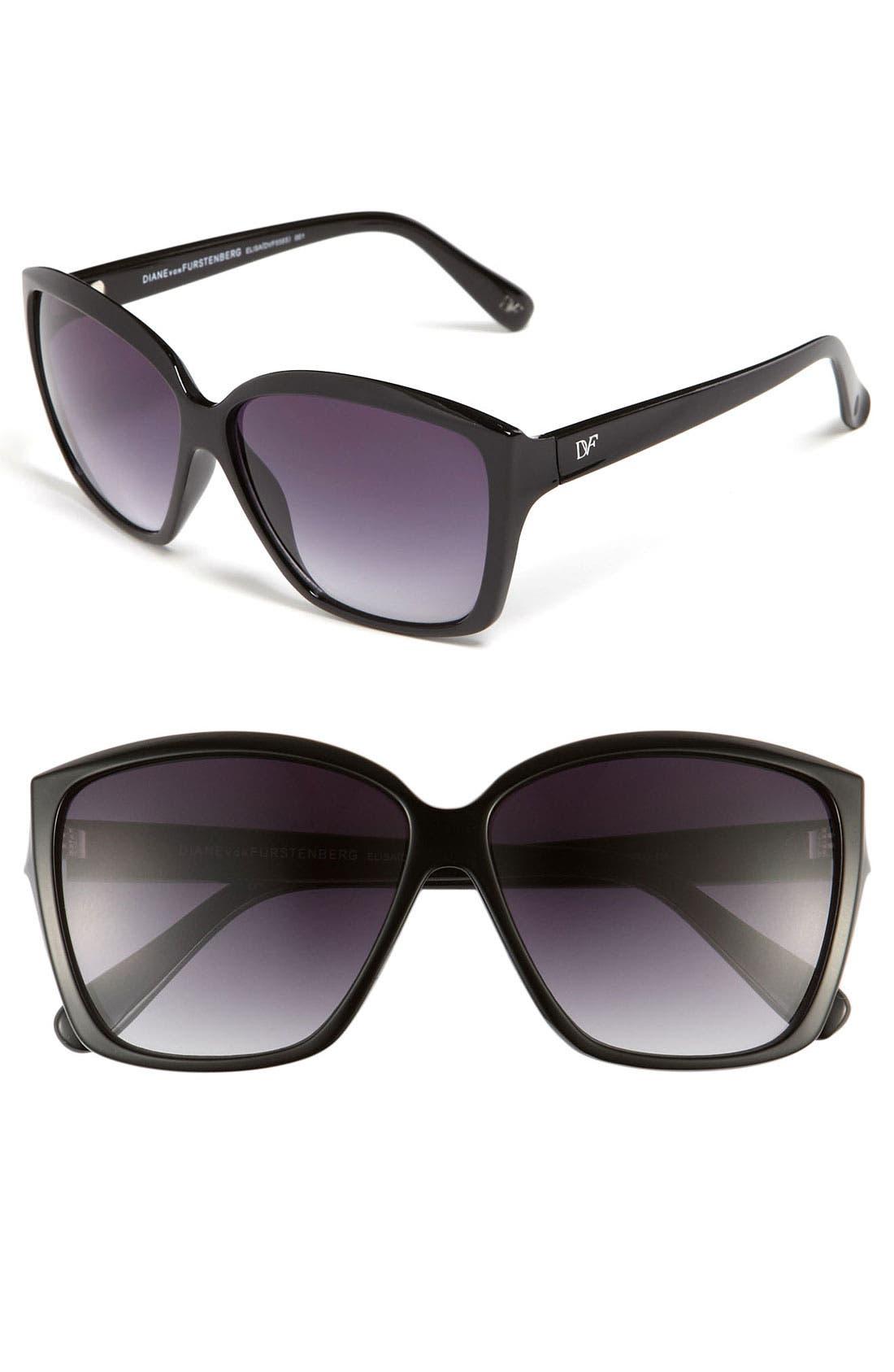 Main Image - Diane von Furstenberg Oversized Sunglasses
