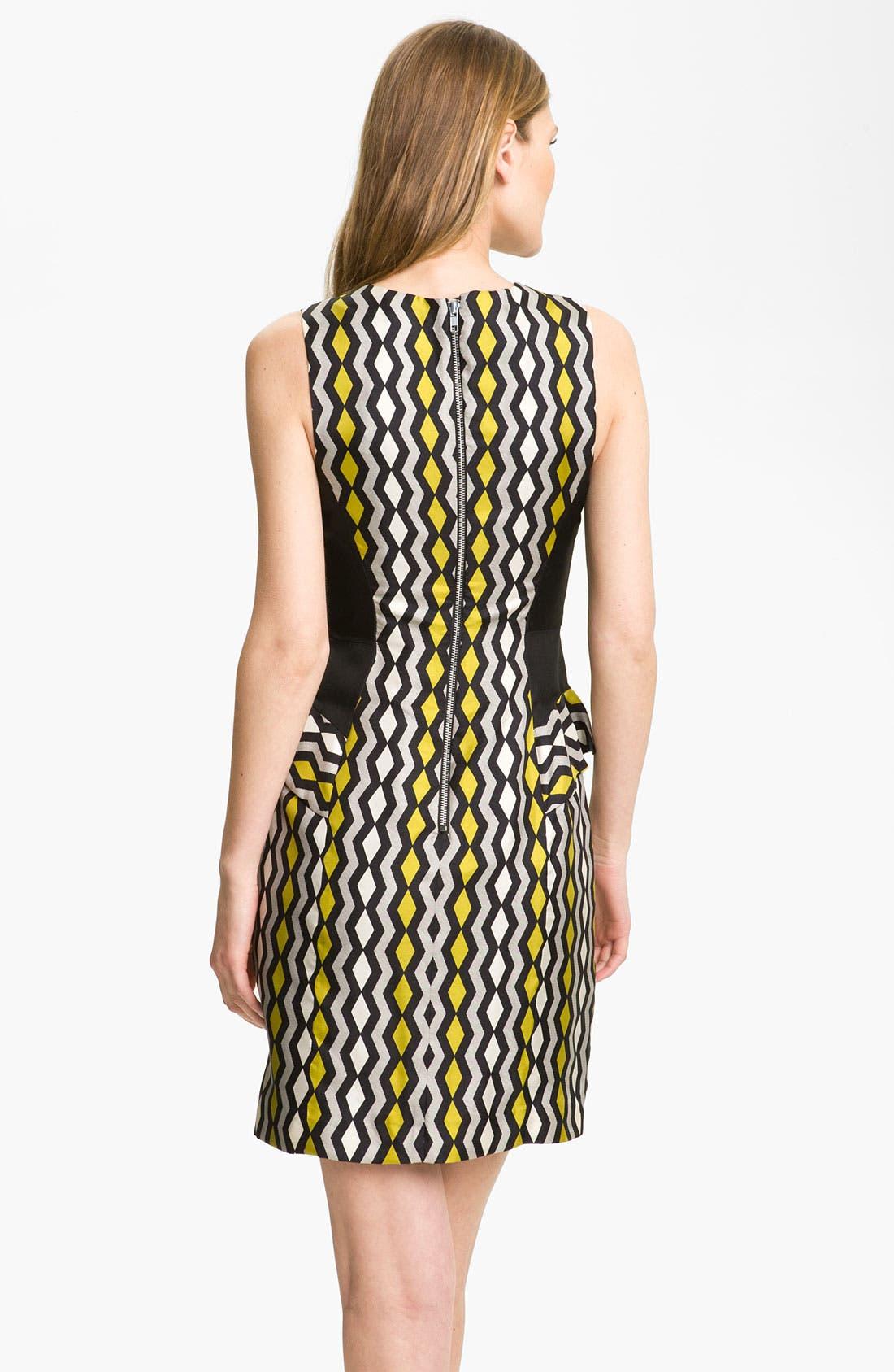 Alternate Image 2  - Milly 'Viola' Geo Print Peplum Dress