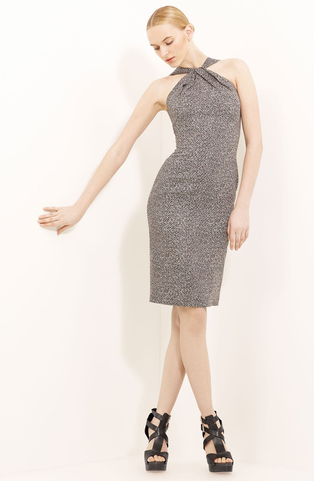 Alternate Image 1 Selected - Michael Kors Tweed Print Cady Dress