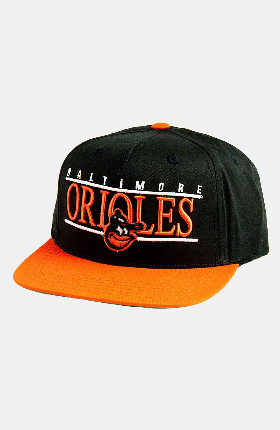 Alternate Image 1 Selected - American Needle 'Baltimore Orioles - Nineties' Twill Snapback Baseball Cap
