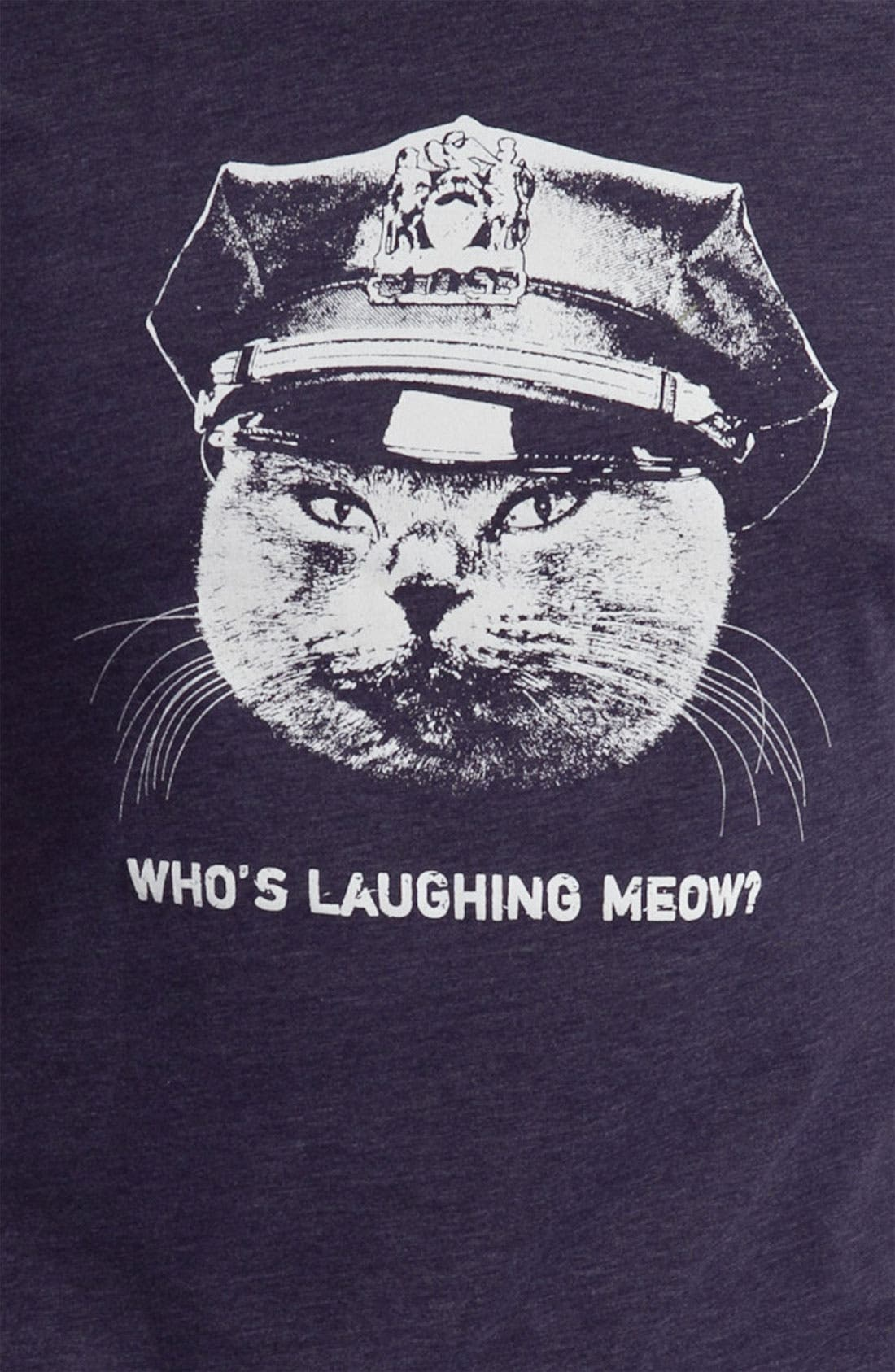 Alternate Image 3  - Headline Shirts 'Who's Laughing Meow' T-Shirt