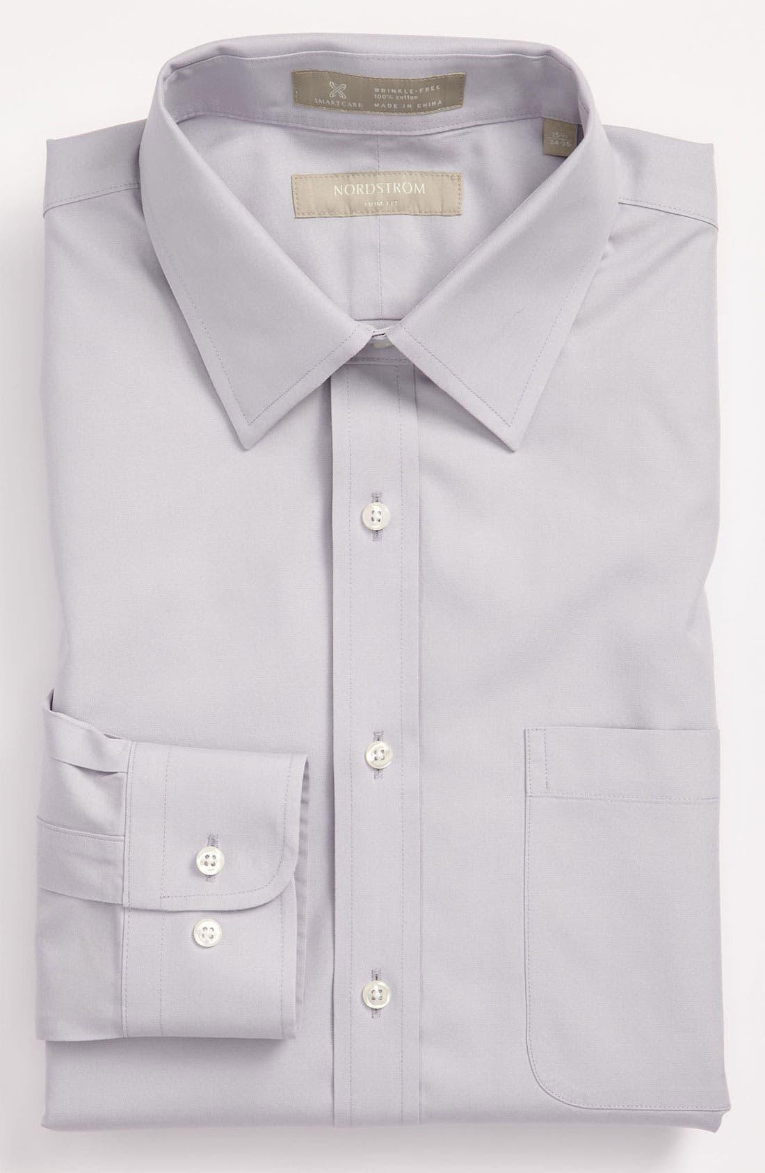 Main Image - Nordstrom Men's Shop Smartcare™ Trim Fit Solid Dress Shirt