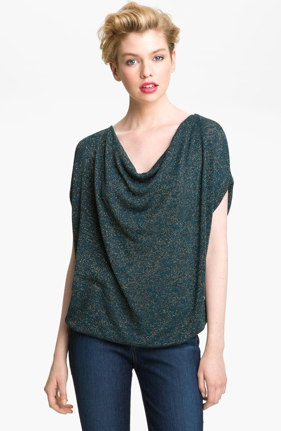 Main Image - Ella Moss Metallic Knit Top (Nordstrom Exclusive)