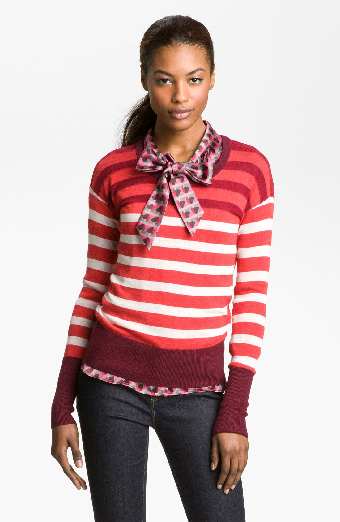 Alternate Image 1 Selected - MARC BY MARC JACOBS 'Yasmin' Stripe Sweater