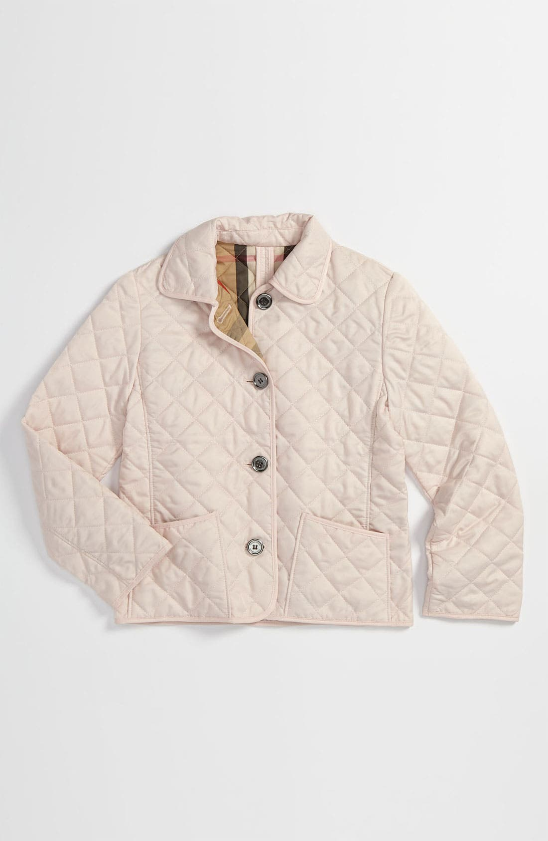 Main Image - Burberry Quilted Jacket (Little Girls)