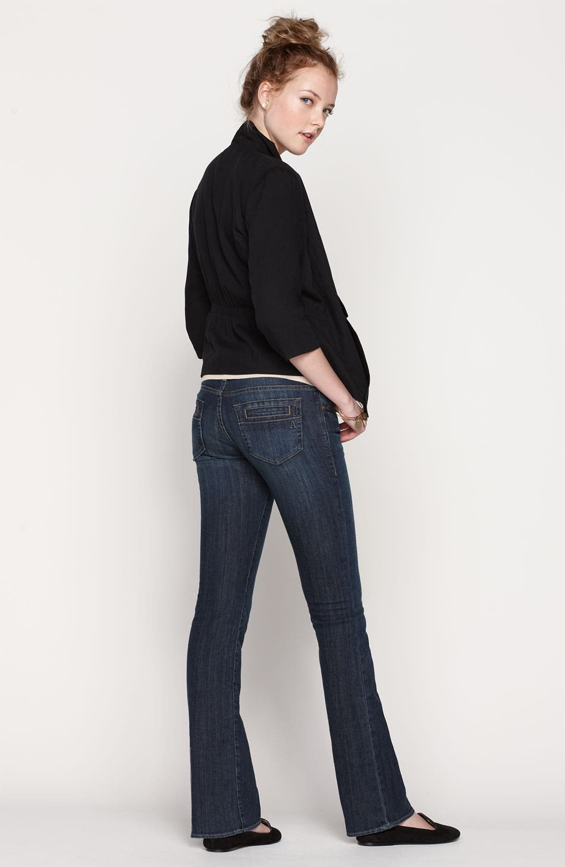 Alternate Image 6  - Articles of Society 'Kendra' Bootcut Jeans (Topaz) (Juniors)
