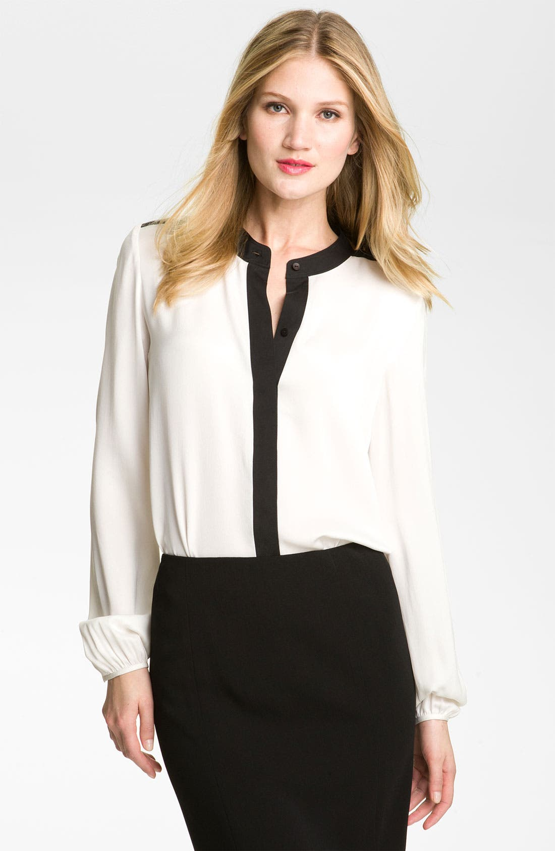 Alternate Image 1 Selected - Theory 'Gerine - Cicero' Silk Blouse