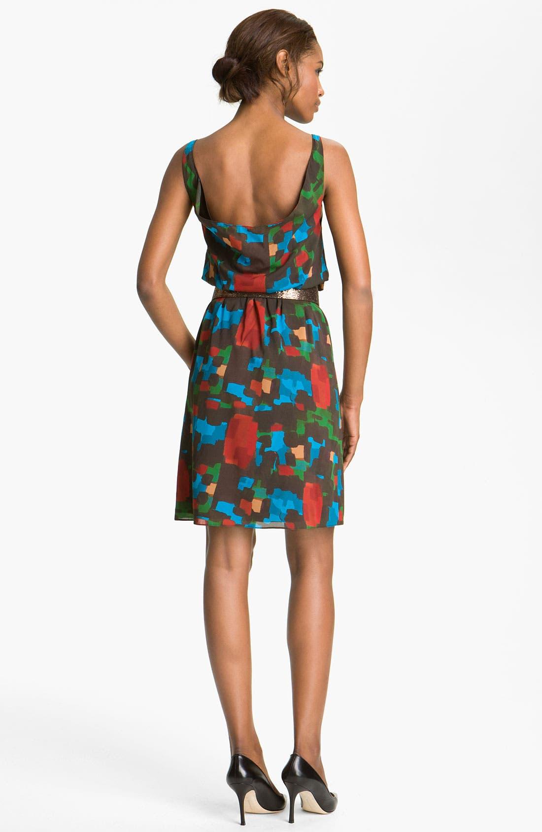 Alternate Image 2  - Alice + Olivia 'Maritza' Belted Tank Dress