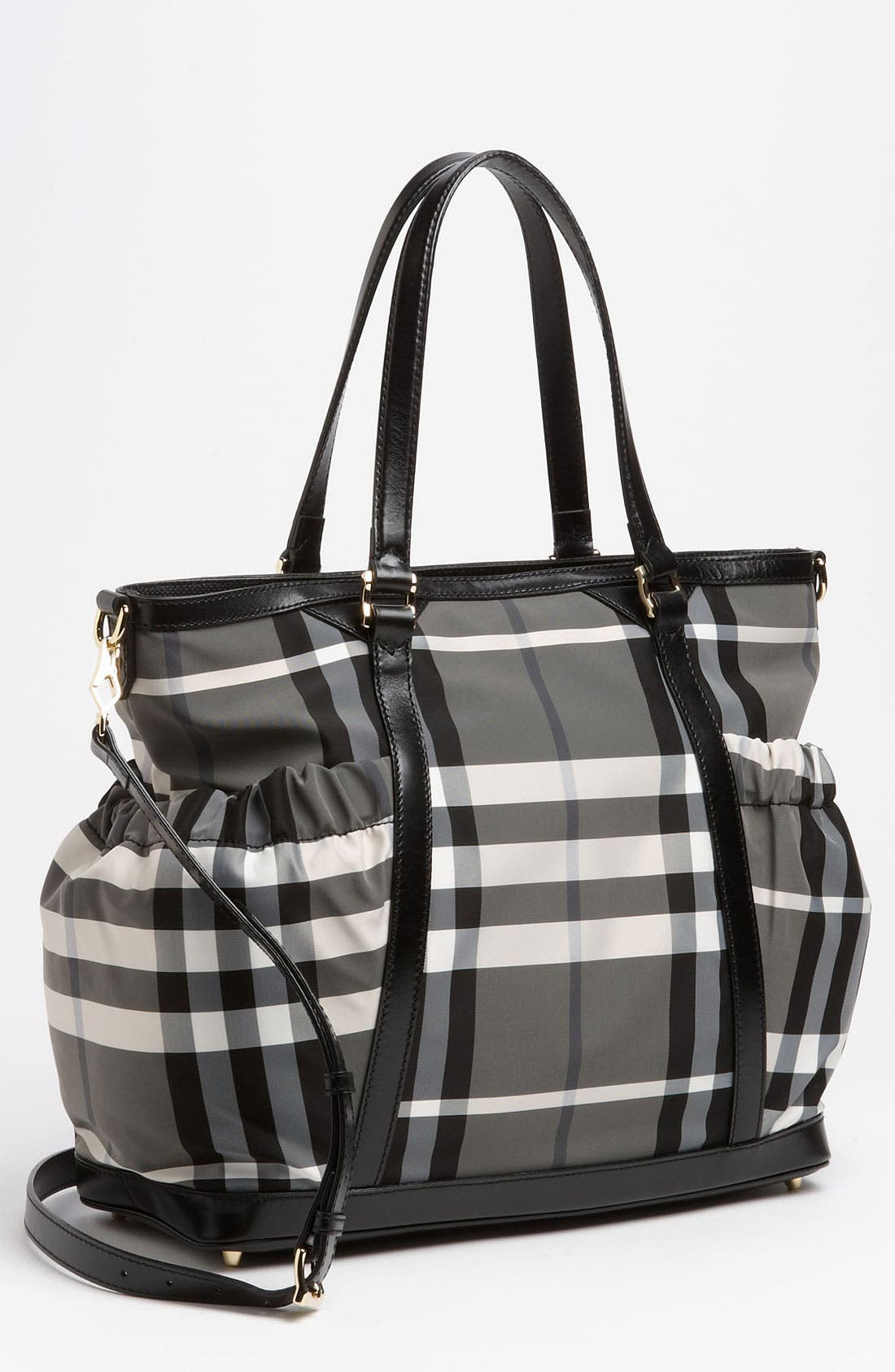 Alternate Image 1 Selected - Burberry Check Print Diaper Bag