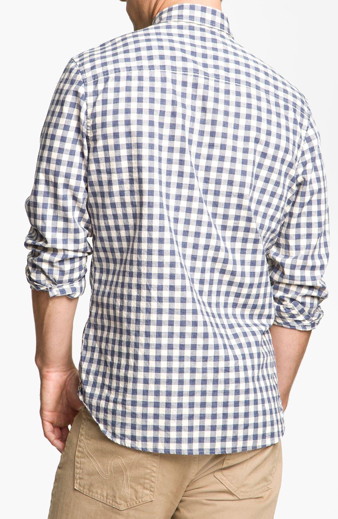 Alternate Image 2  - Wallin & Bros. Check Poplin Sport Shirt