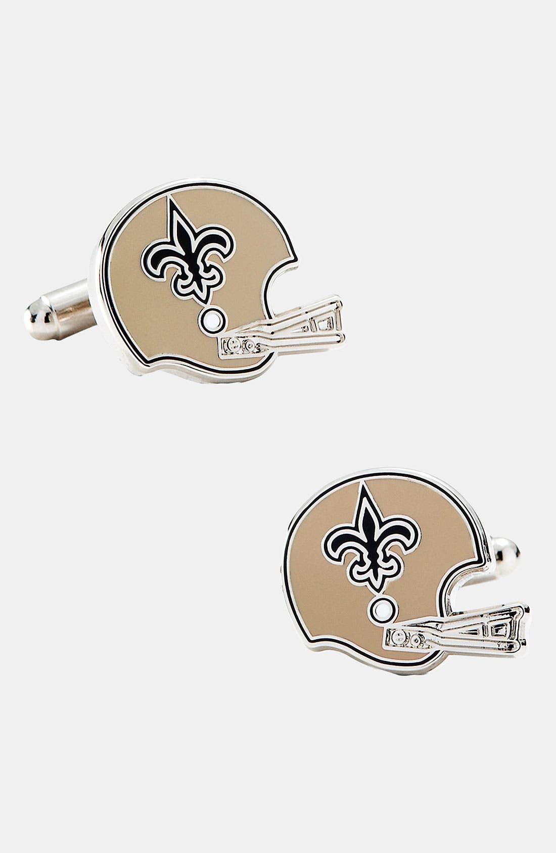 Main Image - Cufflinks, Inc. 'Retro New Orleans Saints' Cuff Links