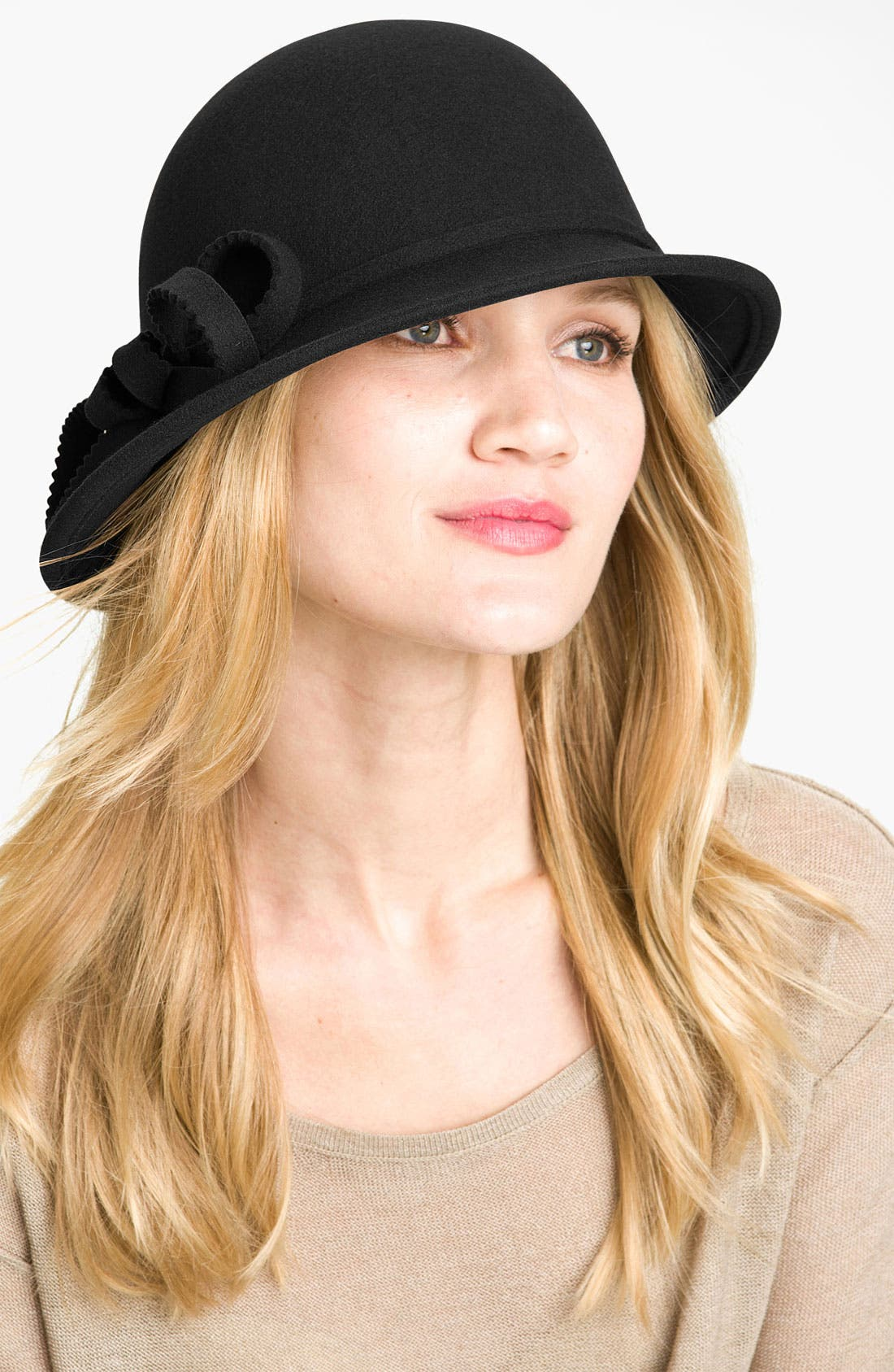 Alternate Image 1 Selected - Nordstrom Sheared Bow Cloche