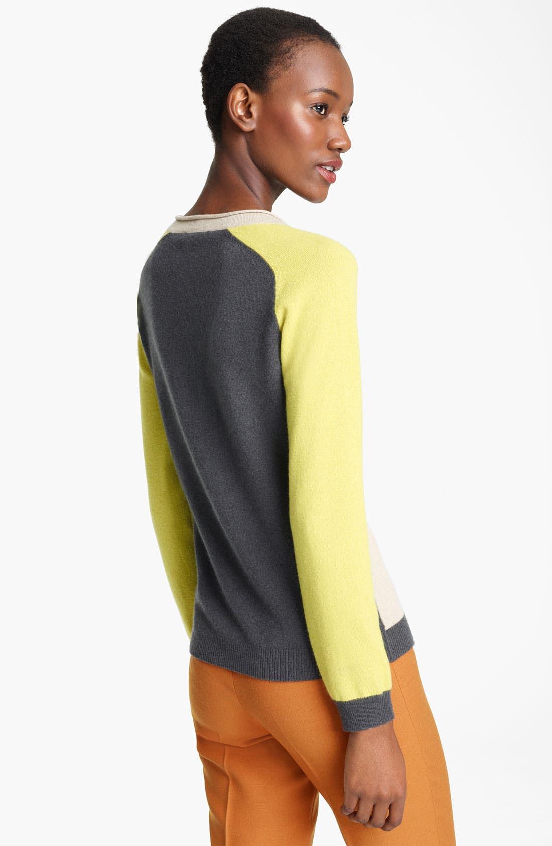 Alternate Image 2  - Moschino Cheap & Chic Colorblock Cashmere Sweater