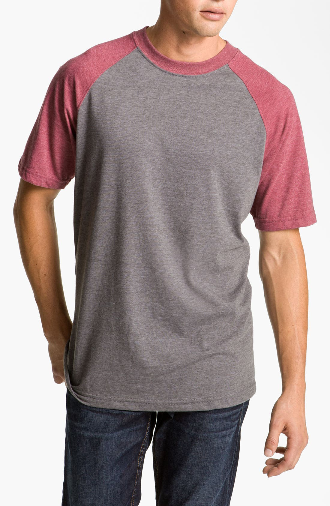 Alternate Image 1 Selected - RVCA 'Camby' Raglan Short Sleeve T-Shirt