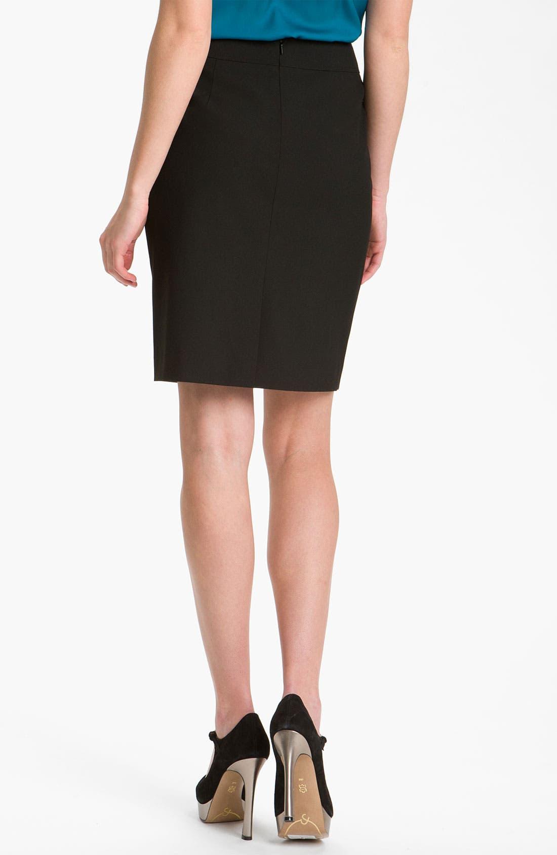Alternate Image 2  - Halogen® Welt Pocket Skirt