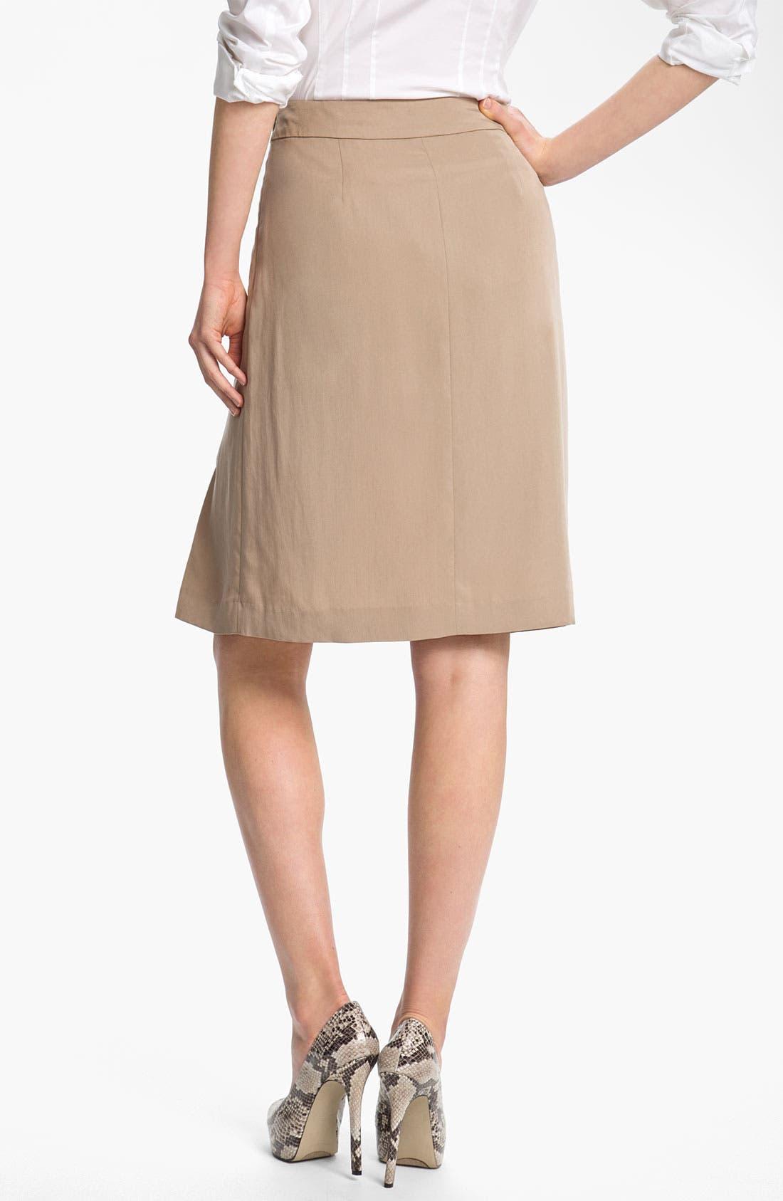 Alternate Image 2  - Halogen® Button Trim A-Line Skirt