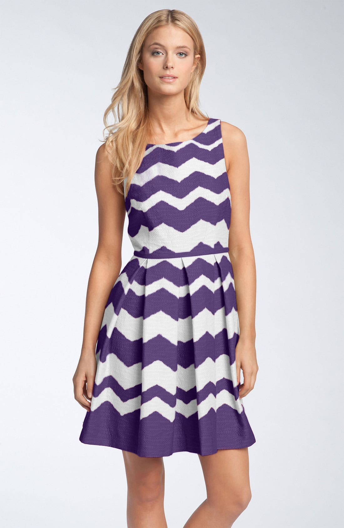 Alternate Image 1 Selected - Taylor Dresses 'Zigzag' Fit & Flare Dress