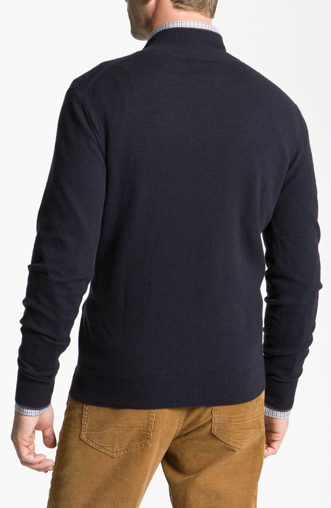 Alternate Image 2  - Canali Half Zip Merino Wool Sweater