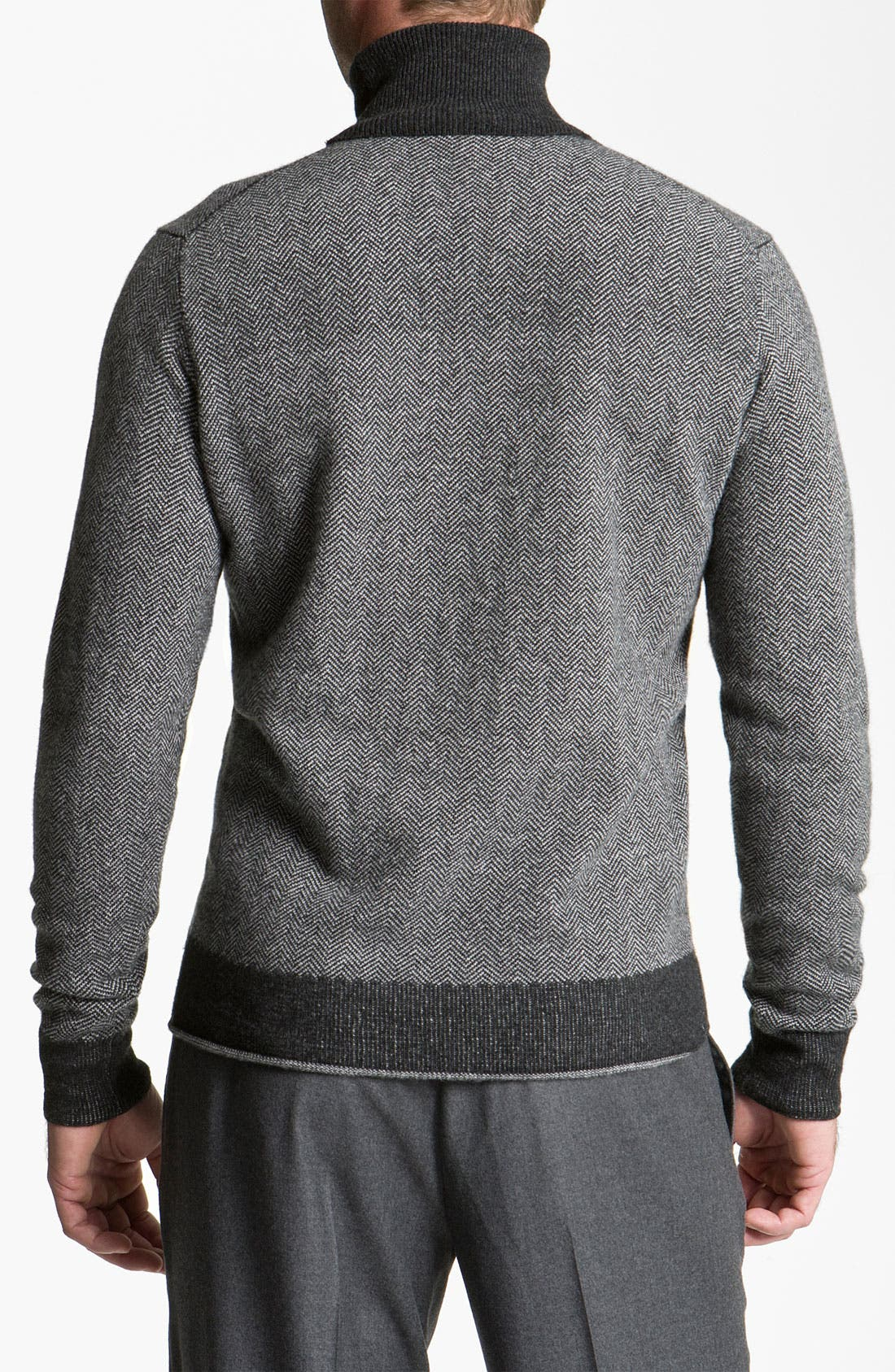 Alternate Image 2  - Canali Merino Wool & Cashmere Turtleneck Sweater