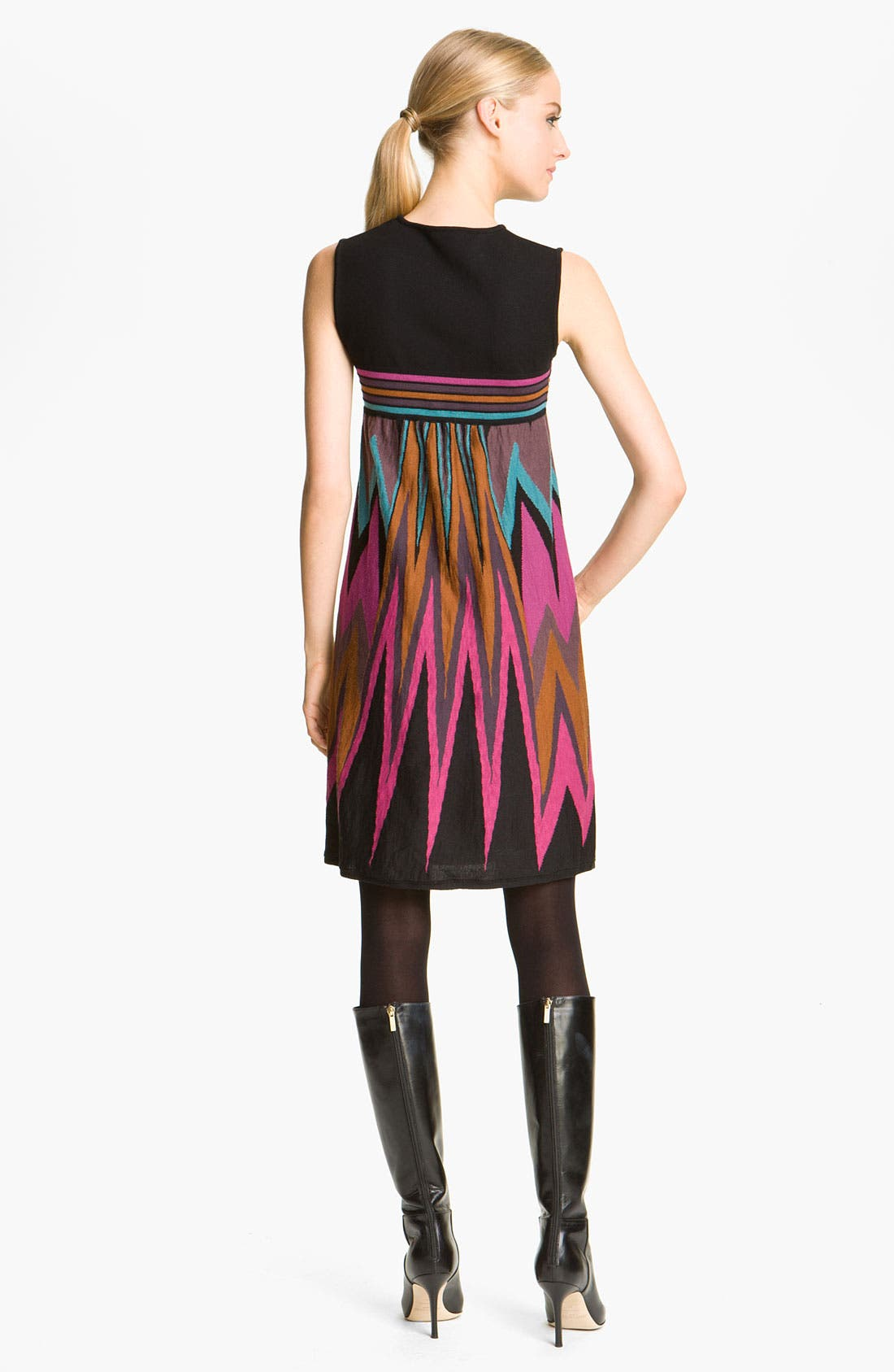 Alternate Image 2  - M Missoni Graphic Zigzag Intarsia Dress