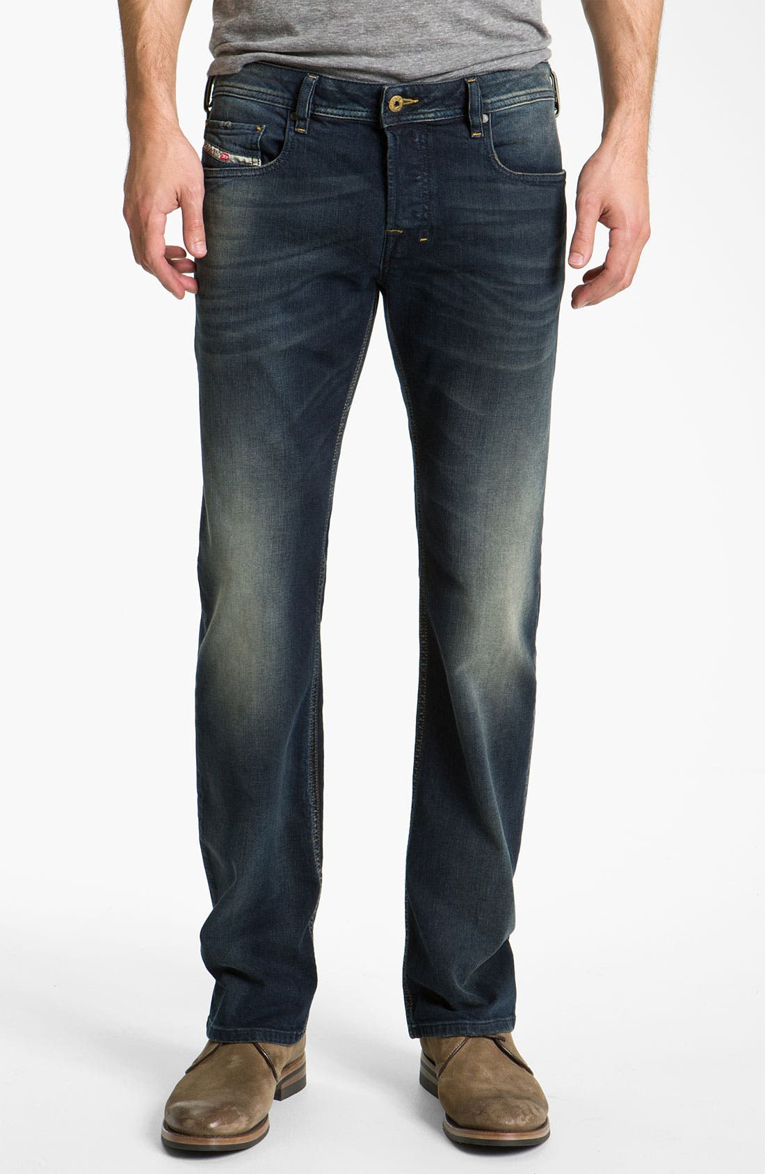 Alternate Image 2  - DIESEL® 'Zatiny' Bootcut Jeans (802C)