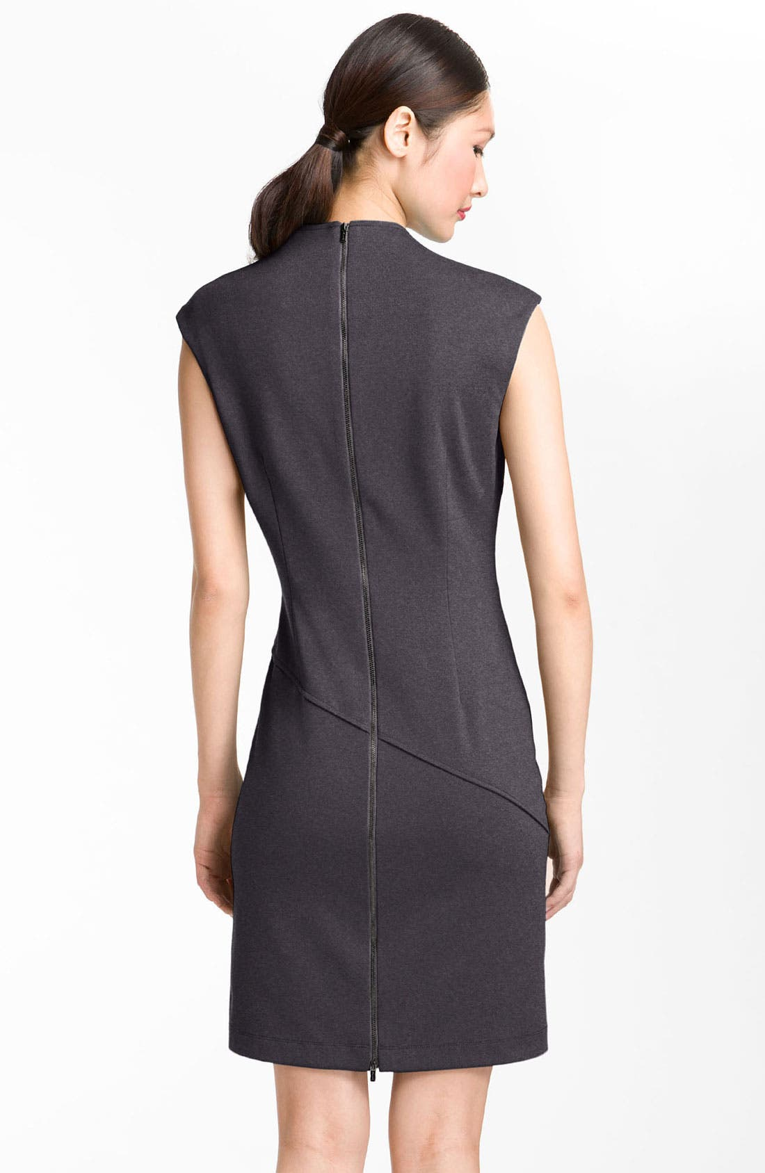 Alternate Image 2  - Calvin Klein Seamed Ponte Knit Sheath Dress