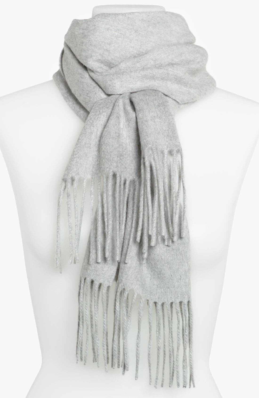 Alternate Image 1 Selected - Nordstrom Solid Woven Cashmere Muffler