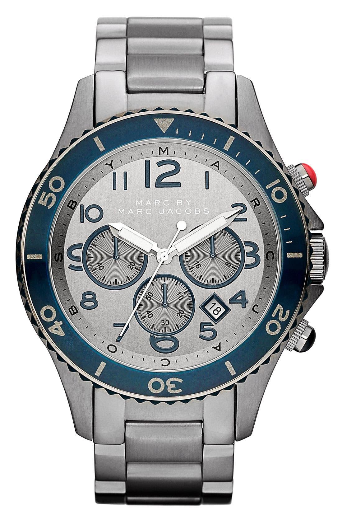 Main Image - MARC BY MARC JACOBS 'Rock' Chronograph Bracelet Watch