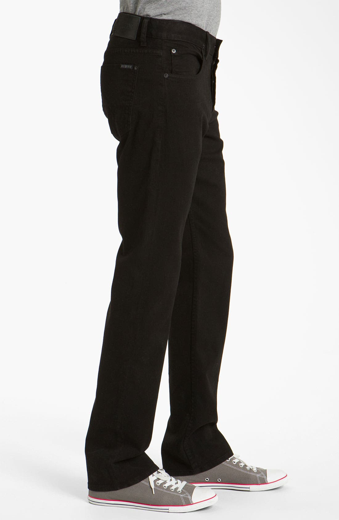 Alternate Image 3  - Hudson Jeans 'Buckley Athletic' Straight Leg Jeans (Jet Black)