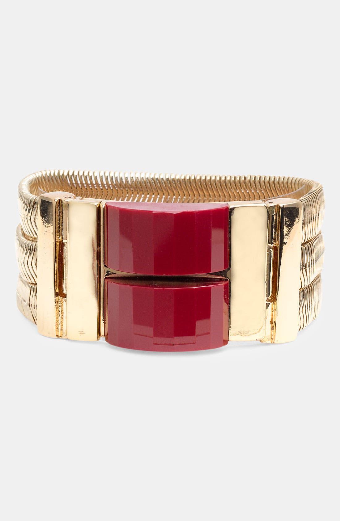 Alternate Image 1 Selected - Anne Klein Faceted Bracelet