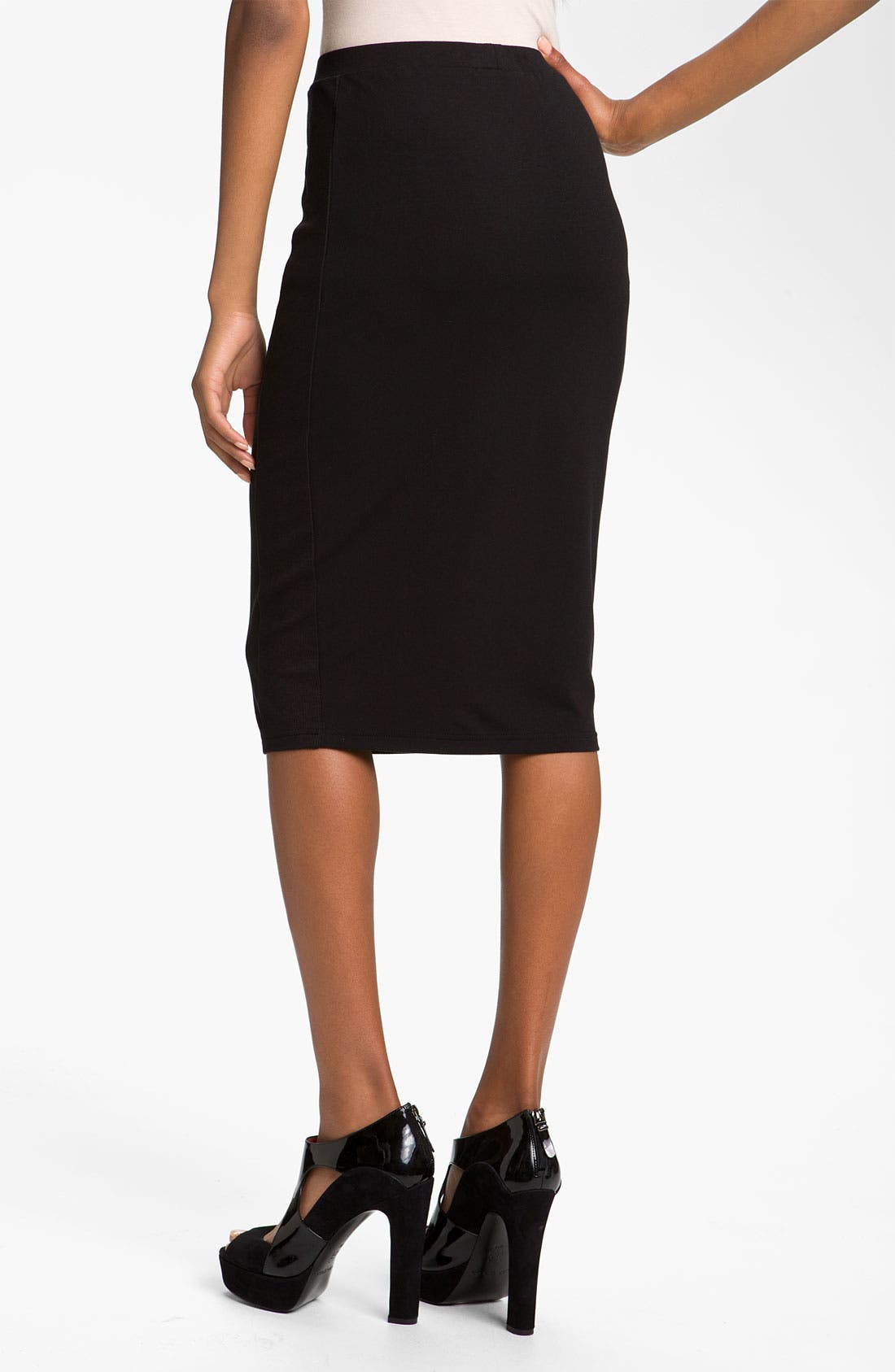 Alternate Image 2  - Trouvé Rib Panel Pencil Skirt