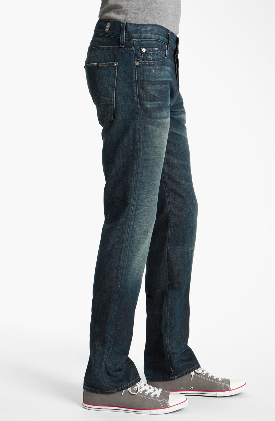 Alternate Image 3  - 7 For All Mankind® Standard Straight Leg Jeans (Cedar Street)