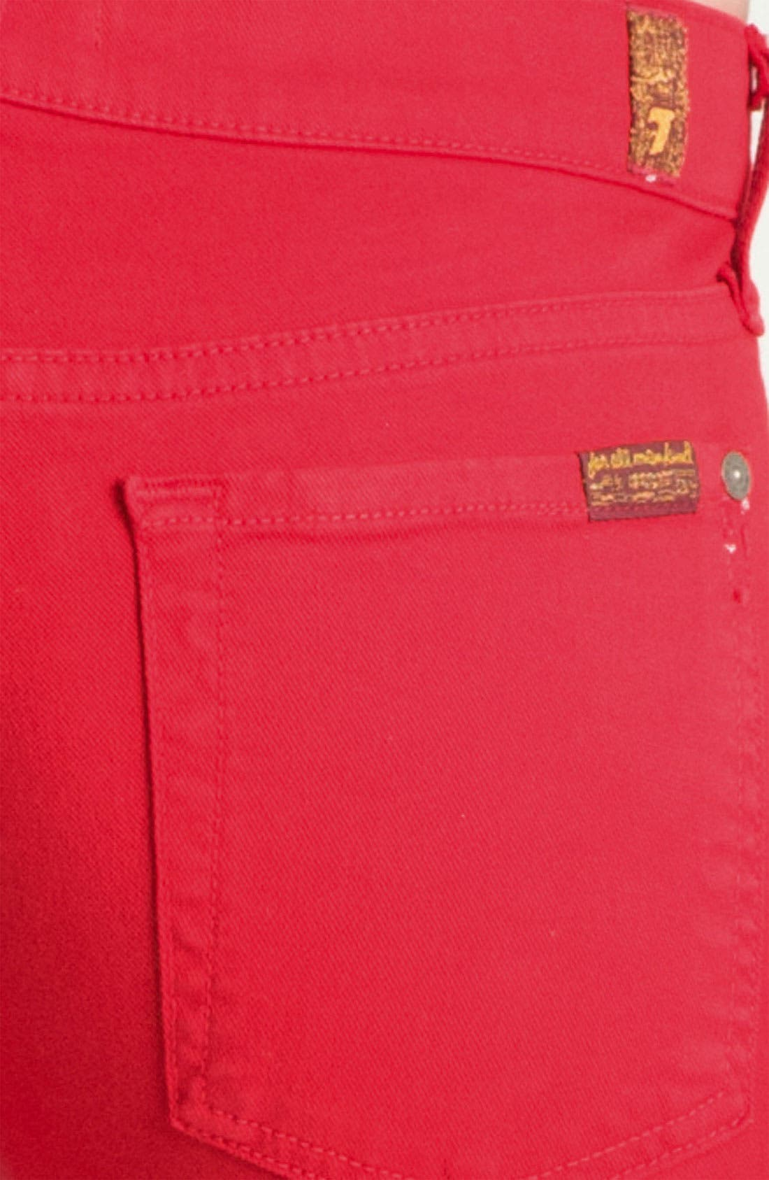 Alternate Image 3  - 7 For All Mankind® 'The Skinny' Overdyed Jeans (Red Apple)