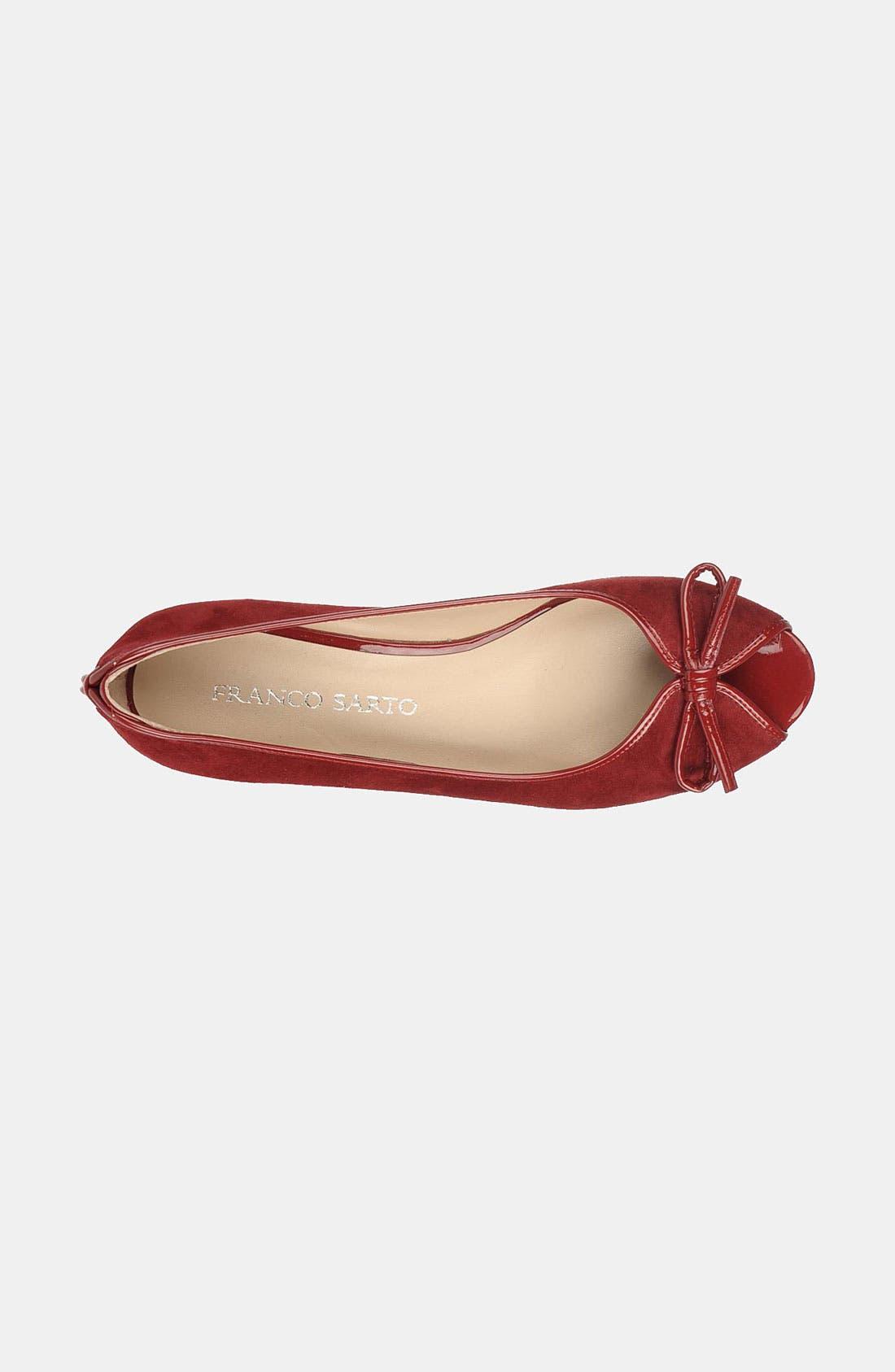 Alternate Image 3  - Franco Sarto 'Model' Peep Toe Flat