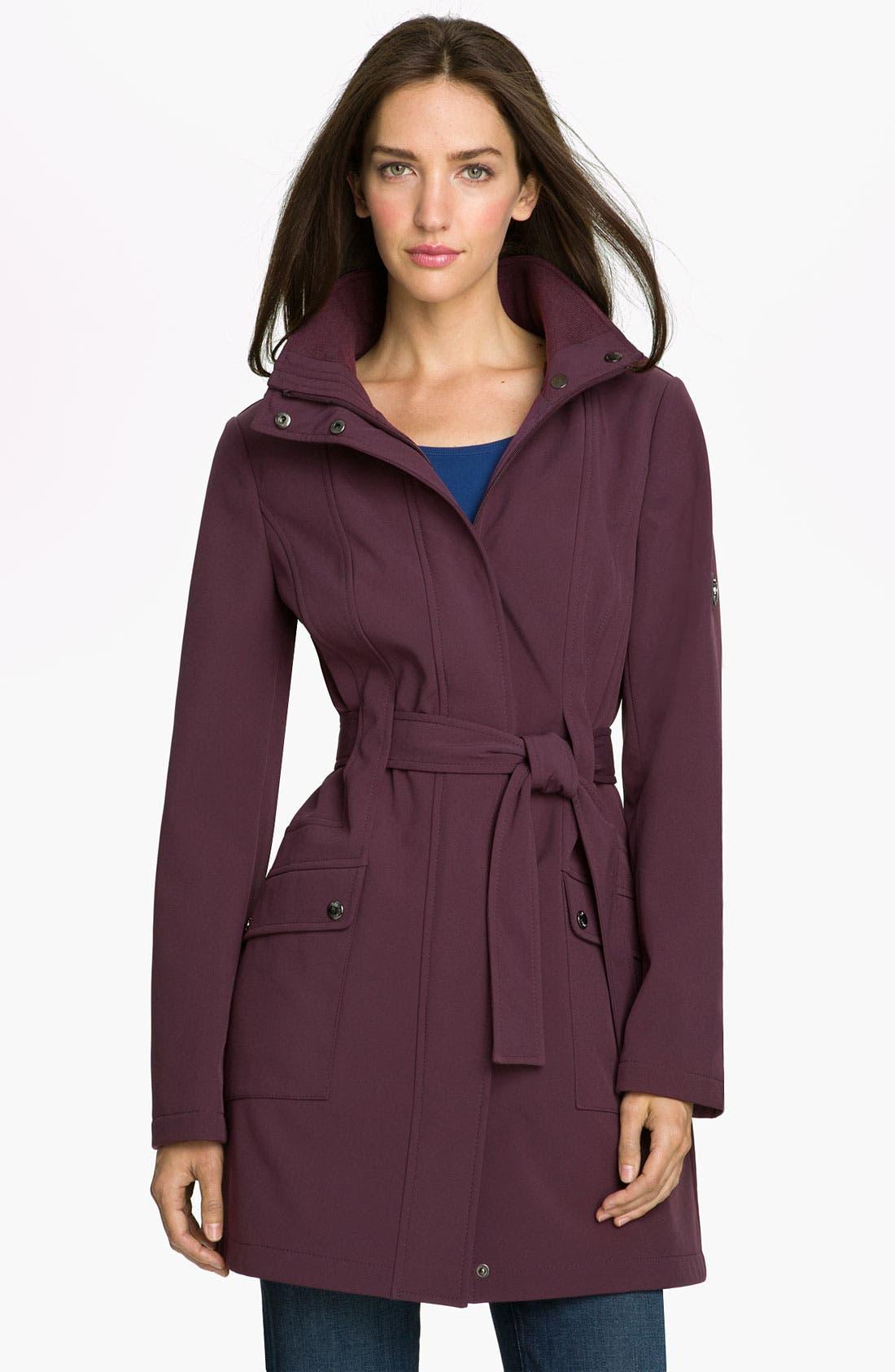 Alternate Image 1 Selected - Calvin Klein Fleece Lined Coat with Detachable Hood