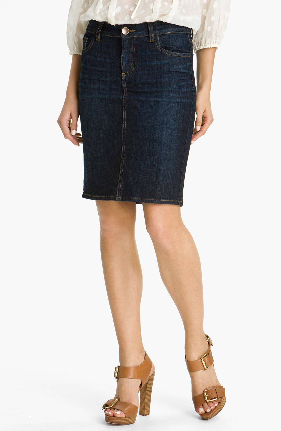 Main Image - KUT from the Kloth Denim Skirt