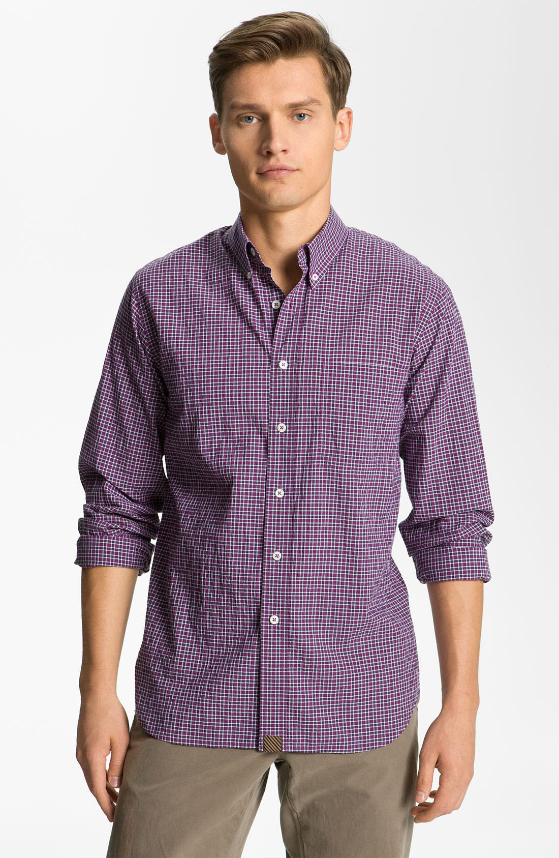 Alternate Image 1 Selected - Billy Reid 'Tuscumbia' Plaid Woven Shirt