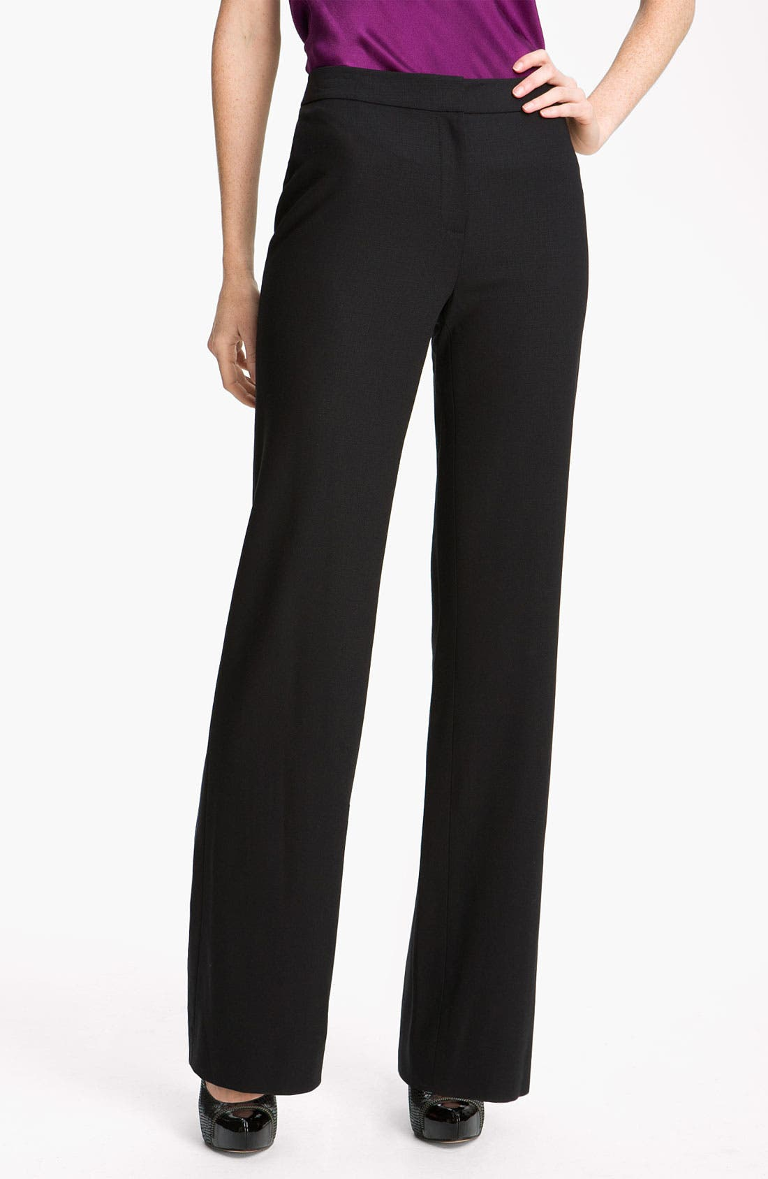 Main Image - Magaschoni Stretch Wool Blend Pants