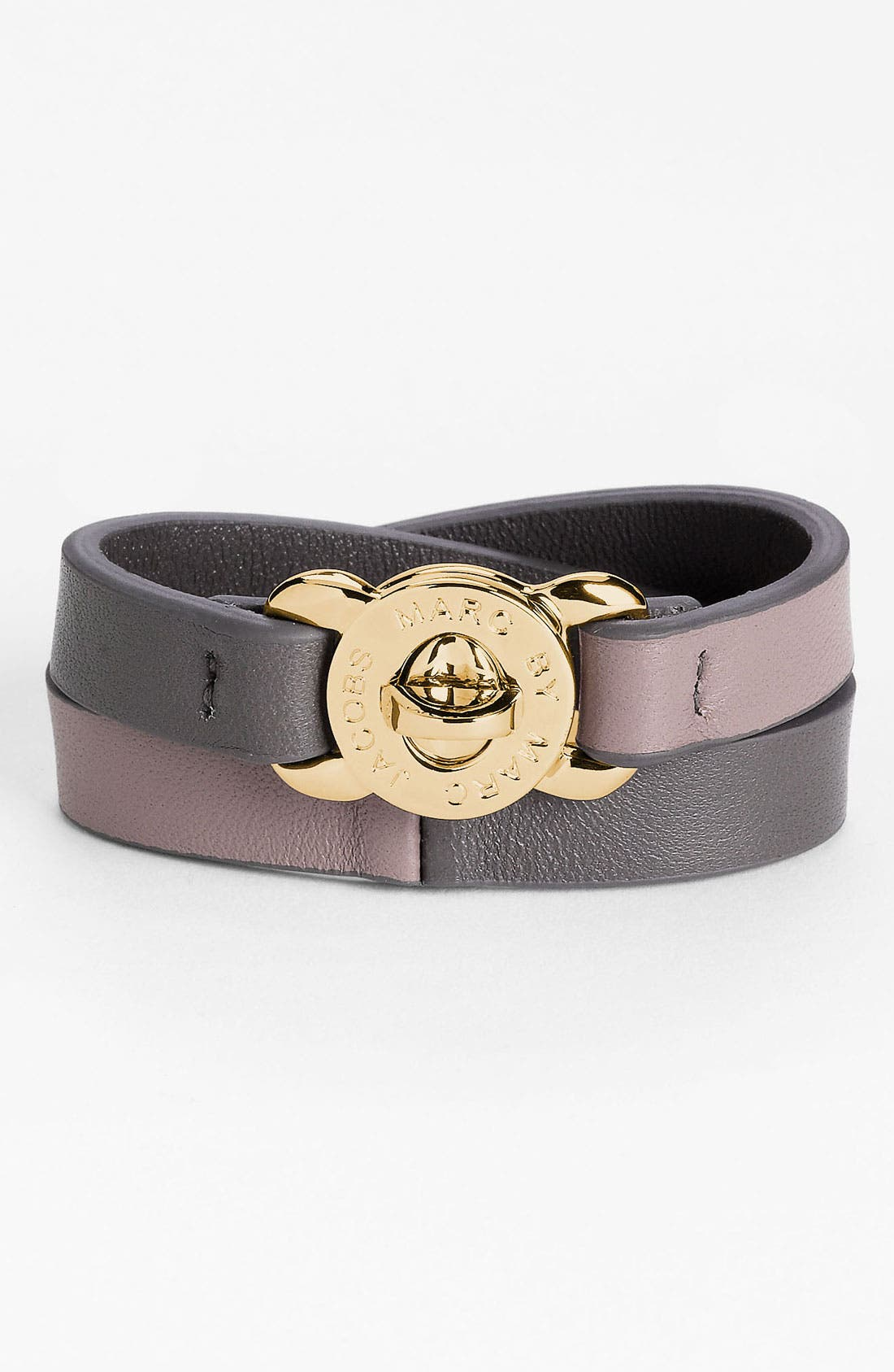 Alternate Image 1 Selected - MARC BY MARC JACOBS 'Katie' Double Wrap Leather Bracelet