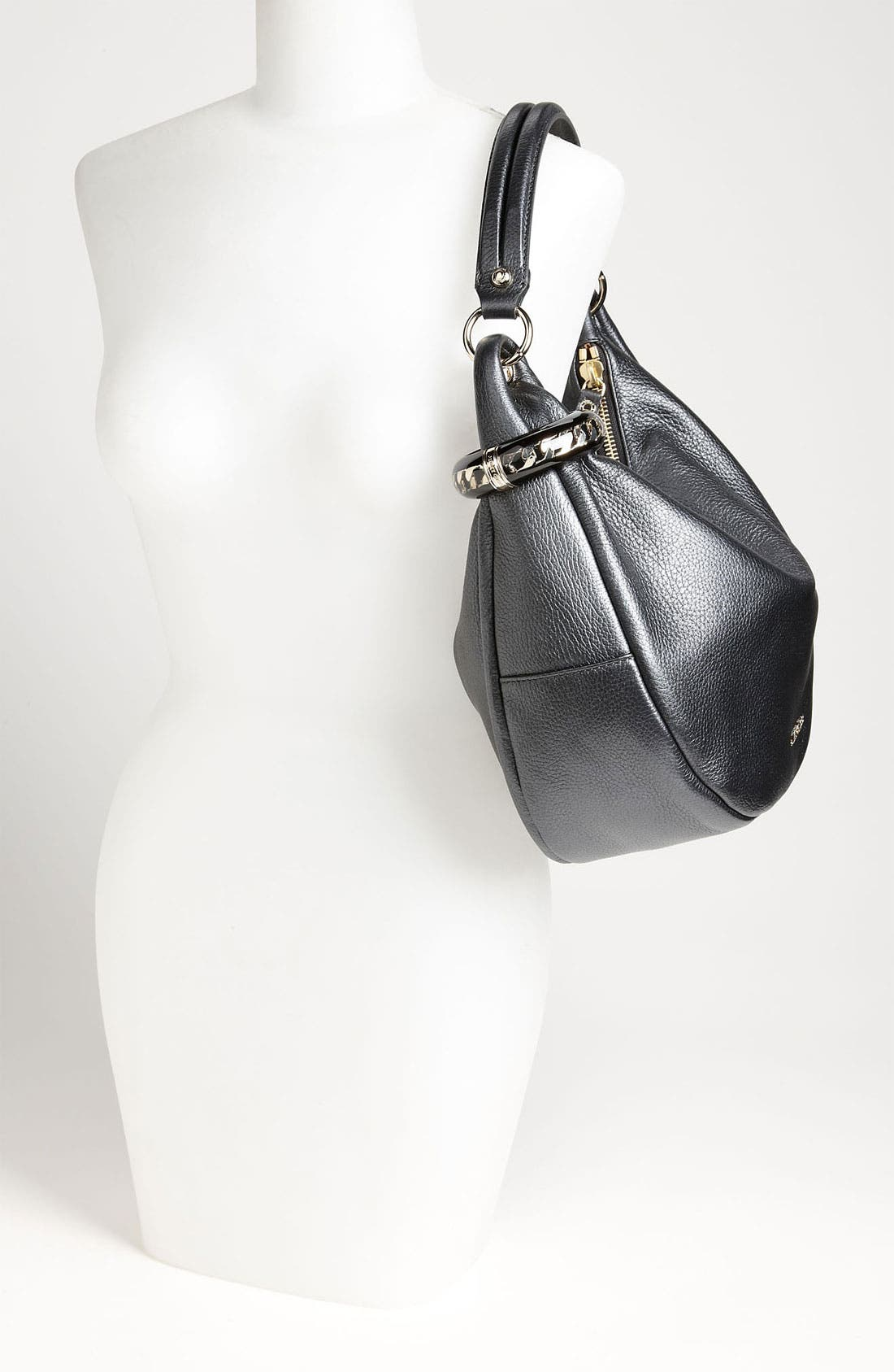 Alternate Image 2  - Jimmy Choo 'Solar - Small' Pearlized Metallic Leather Hobo