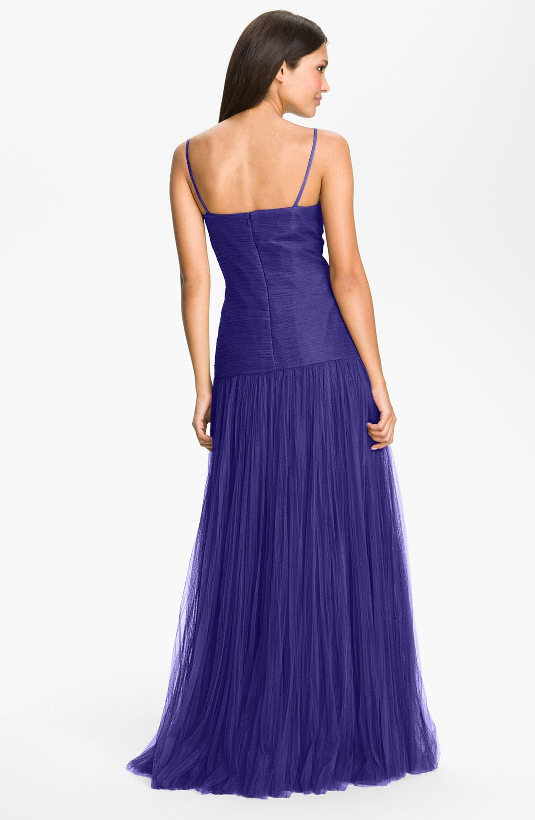 Alternate Image 2  - Veni Infantino Textured Drop Waist Tulle Gown & Shrug