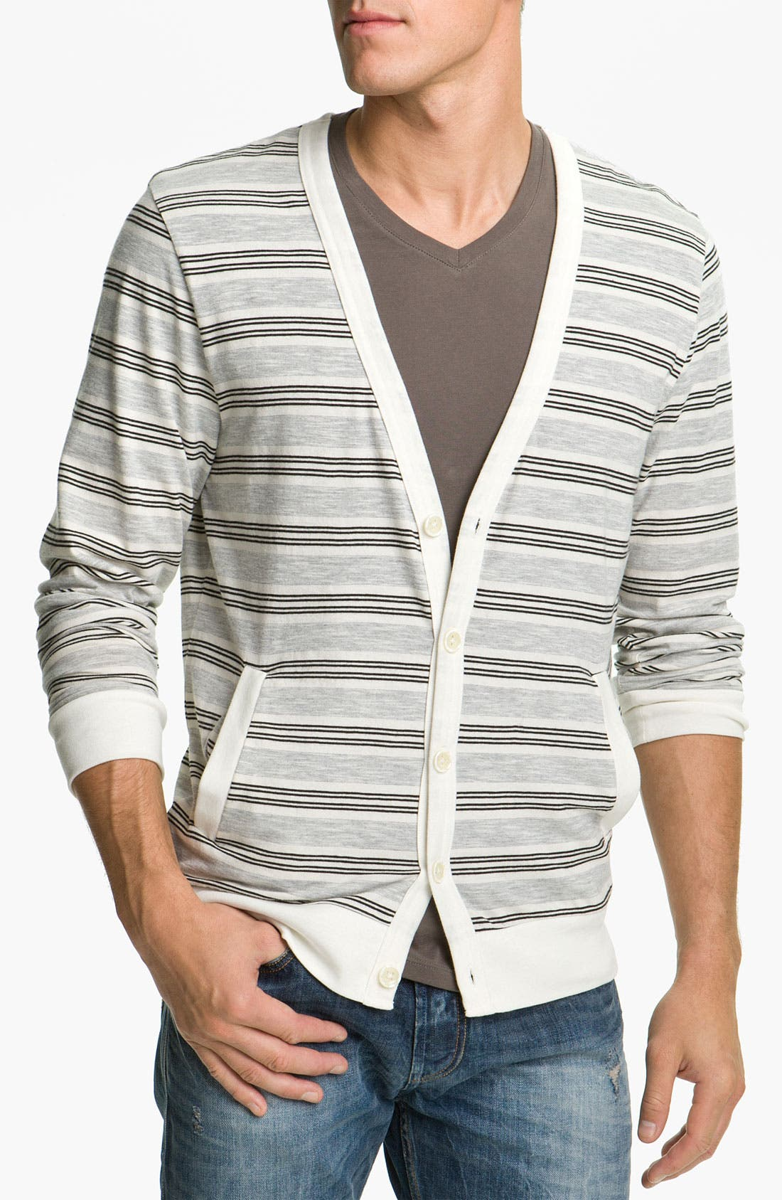 Alternate Image 1 Selected - Public Opinion Stripe Cardigan