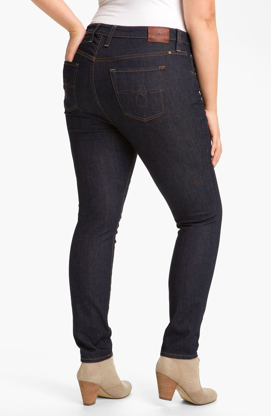 Alternate Image 1 Selected - Lucky Brand 'Ginger' Skinny Jeans (Plus)