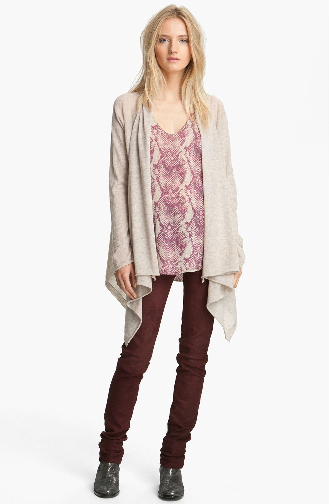 Alternate Image 1 Selected - Zadig & Voltaire Drape Front Cashmere Cardigan