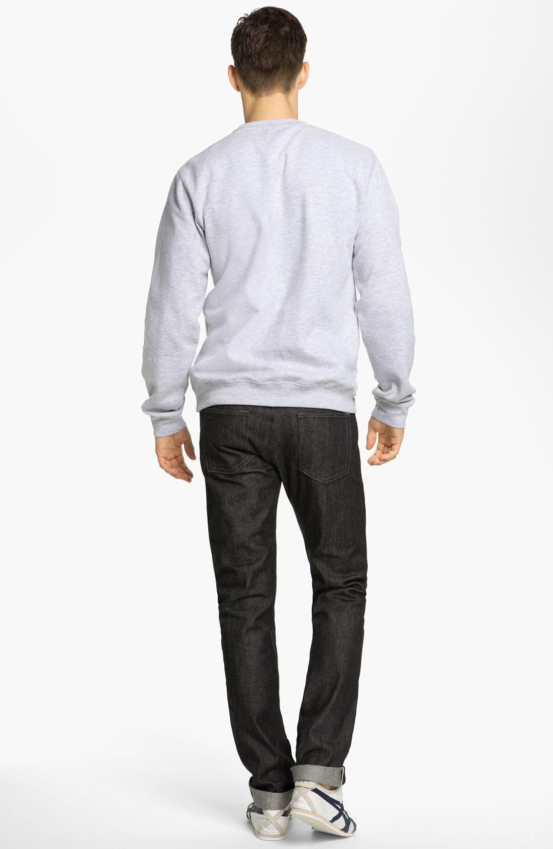 Alternate Image 6  - Naked & Famous Denim 'Weird Guy' Slim Fit Selvedge Jeans (Black)